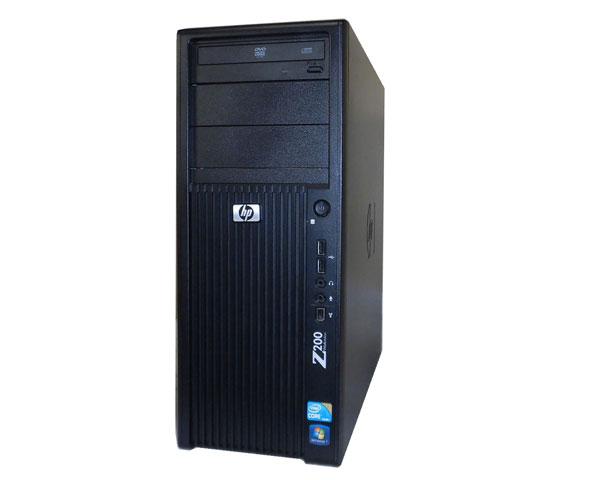 Windows7 Pro 32bit HP Workstation Z200 CMT VA206AV Core i5-650 3.2GHz 3GB 250GB DVD-ROM FX580 中古ワークステーション タワー型