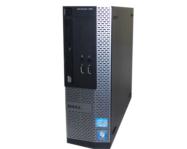Windows7 Pro 32bit DELL OPTIPLEX 390 SFF Core i3-2100 3.1GHz 2GB 250GB DVD-ROM HDMI 中古パソコン デスクトップ 本体のみ