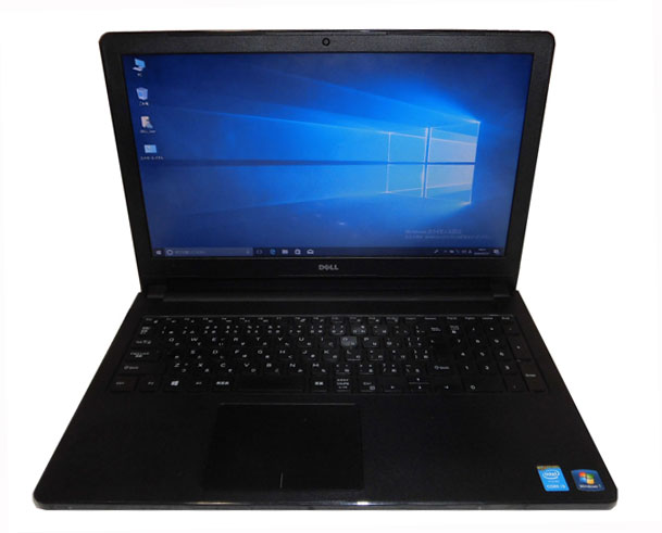 Windows10 Pro 64bit DELL Vostro 3558 Core i3-5005U 2.0GHz 4GB 500GB DVDマルチ 15.6インチ Webカメラ 無線LAN テンキー 中古ノートパソコン