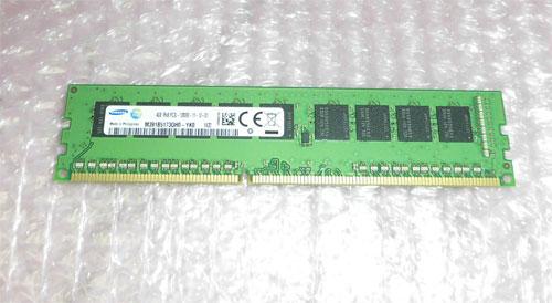 SAMSUNG PC3L-12800E 4GB 在庫限り 1R×8 中古メモリー PRIMERGR RX100 S8取り外し品 市場