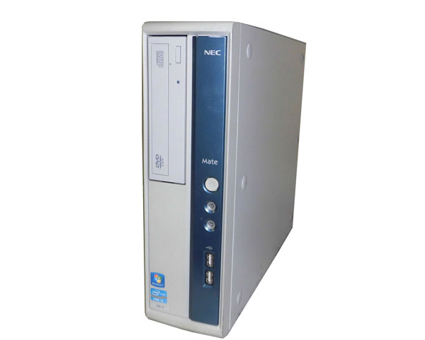 Windows7 Pro 32bit NEC Mate MK34LB-G (PC-MK34LBZCG) 第3世代 Core i3-3240 3.4GHz 2GB 250GB DVD-ROM 中古パソコン デスクトップ 中古PC 本体のみ