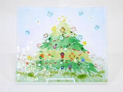 【クリスマスツリーのステンドグラス】