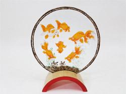 【金魚模様のステンドグラス(大)】