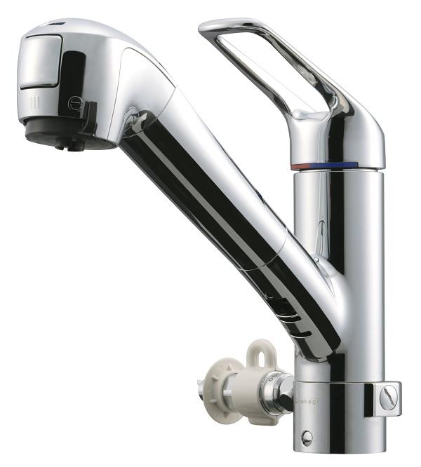 タカギ キッチン用 蛇口一体型浄水器シングルレバー混合水栓・食洗機対応(お湯分岐タイプ)JL226MN-NNGR