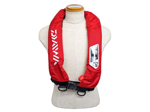 自動膨張式ライフジャケット 肩掛式 DF-2007 ウォッシャブルライフジャケット レッド ダイワ 国交省認定品 タイプA 検定品 桜マーク付