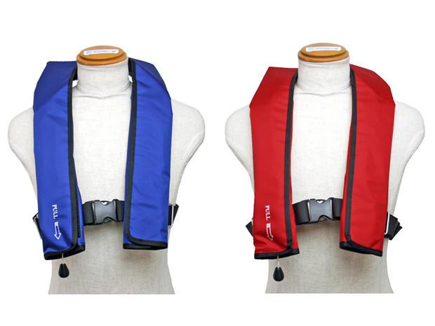 自動膨張式ライフジャケット 肩掛式 作業用救命衣(膨脹式) NQV-ATn型 日本救命器具 国交省認定品 タイプA 検定品 桜マーク付