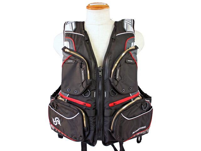 BSJ-170R SARASHI ブラック タイプL2 取り寄せ商品 永遠の定番 BLUESTORM 高階救命器具 気質アップ レジャー用ライフジャケット