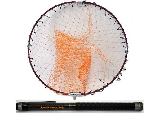 ランガンアームホルダーセット 650 専用ホルダー付コンパクト小継玉ノ柄 50cmアルミ四つ折り枠モノフィラ網付 釣り具