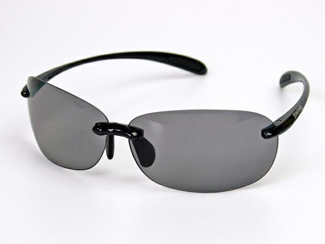スワンズ SWANS SABE-0051 エアレスビーンズ 偏光スモーク UVカット 偏光レンズ ケース&メガネ拭き付