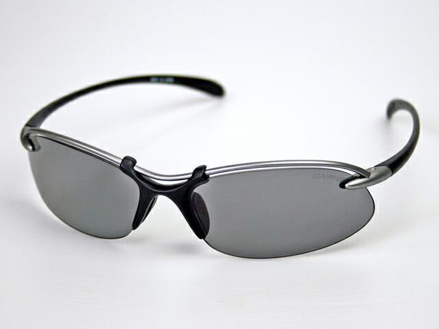 スワンズ SWANS SA-501 エアレスウェイブ 偏光スモーク UVカット 偏光レンズ ケース&メガネ拭き付