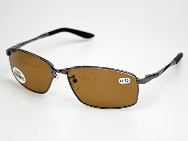 老眼鏡 偏光サングラス アイウェア アウトドア 釣りに 老眼鏡入偏光サングラス 冒険王 メガネ拭き付 公式ショップ BFS-5B ケース 返品送料無料 バイフォーカルスポーツ