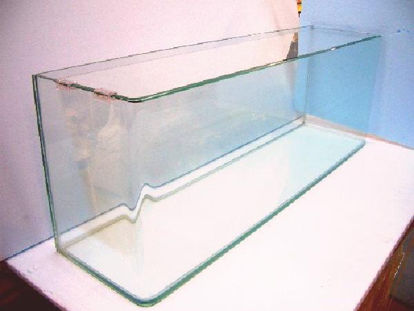 前面曲げ 90角水槽 90×30×36 (10mm特別厚ガラス使用)フタ フタ受け 保護マット付き