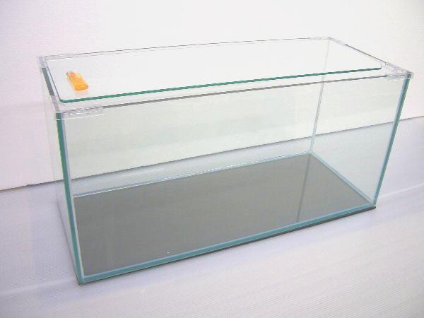 90角水槽 90×30×36 (10mm特別厚ガラス使用)フタ フタ受け 保護マット付き