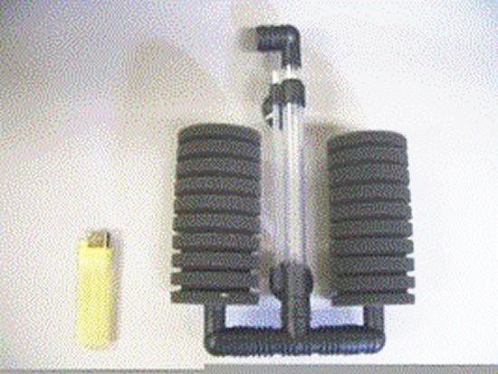 スポンジフィルターXY-2822中2連型(150リッター以下水槽用)  3個