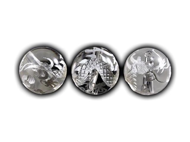 水晶 12mm 白龍 五爪龍 パールホワイト 一粒売りビーズ 日本正規品 天然石 彫刻 パワーストーン 本店