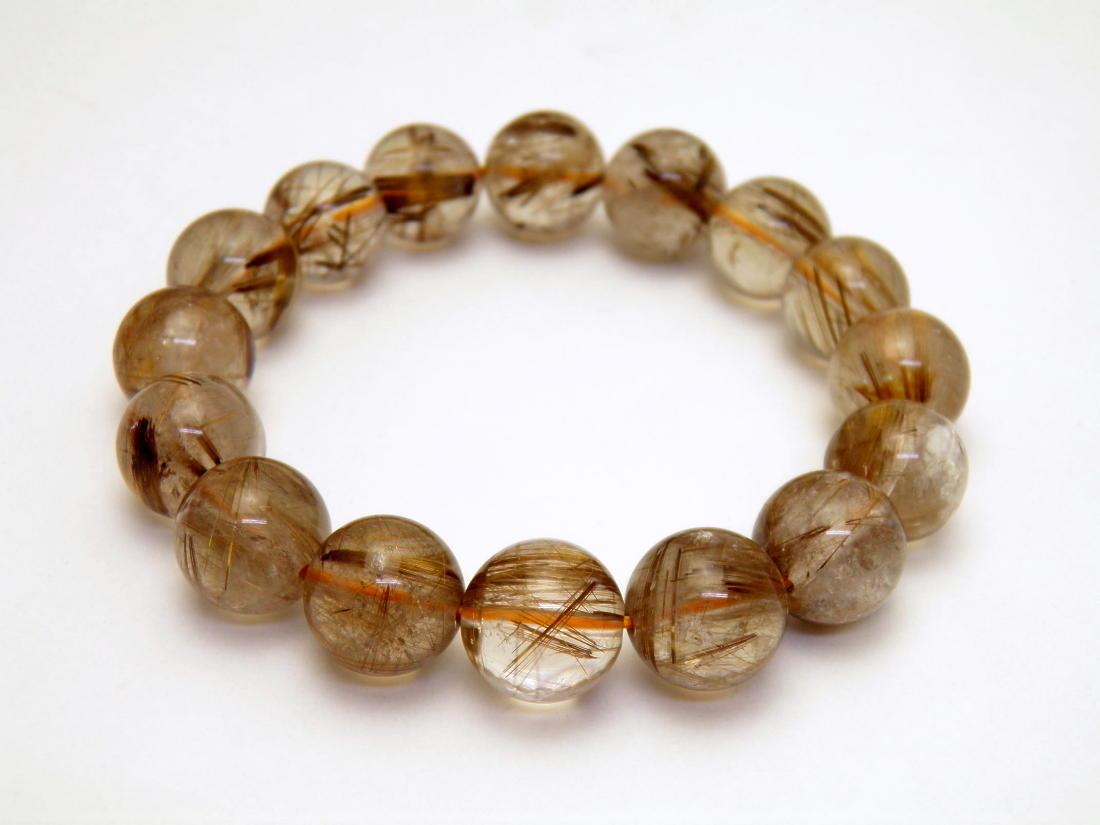 人気カラーの タイガータイチンルチルブレスレット 数珠 金針水晶 14mm 1本売り 数珠 1本売り 天然石 ブレスレット 送料無料 天然石 パワーストーン, 比和町:5fa9c314 --- pokemongo-mtm.xyz