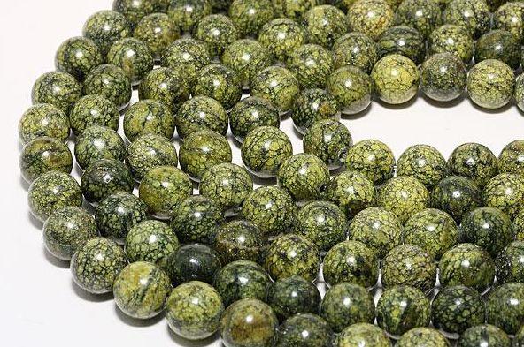 販売 サーペンティン 蛇紋石 新品 送料無料 8mm ビーズ パワーストーン 一連 天然石