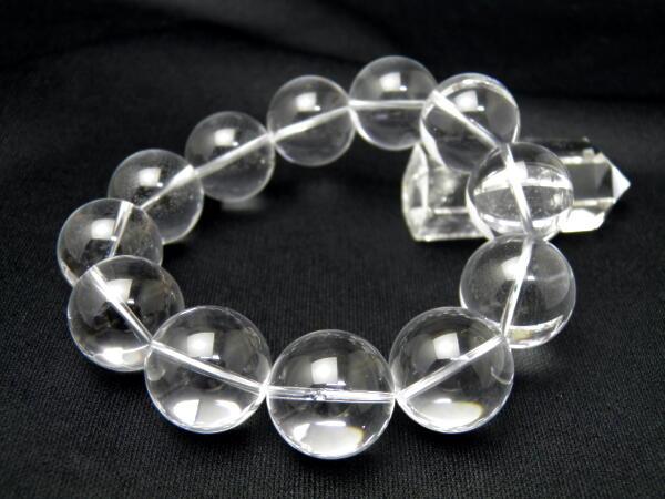 【ENDLESS_20mmブレスレット】 水晶 AAA級 大玉ブレスレット 数珠 ブレスレット レディース&メンズ 天然石 パワーストーン