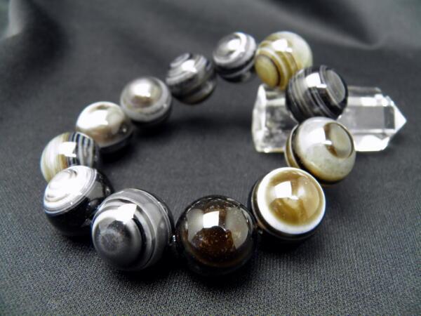 【ENDLESS_18mmブレスレット】 天眼石 大玉シンプルブレスレット 数珠 ブレスレット レディース&メンズ 天然石 パワーストーン