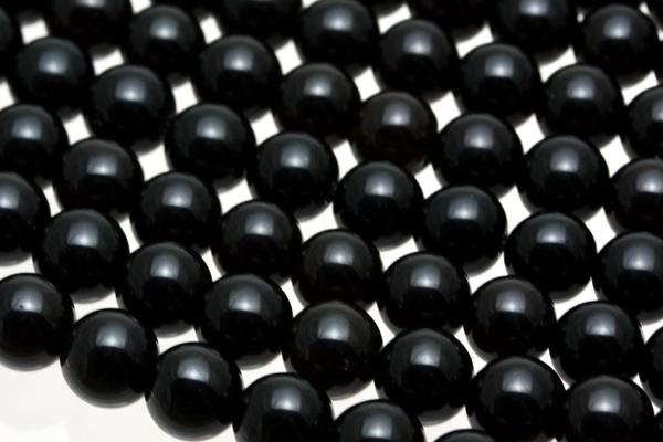 天然黒水晶 (モリオン) 10mm チベット産 AAA ビーズ 一連 天然石 パワーストーン