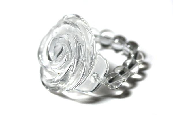天然石 薔薇 水晶 リング 指輪 パワーストーン バラ売り フラワーリング メンズ レディース 再入荷/予約販売! 人気 退職 ポイント消化 転勤 パワーストーンリング ビーズタイプリング ギフト お礼 プチギフト お試し 母の日