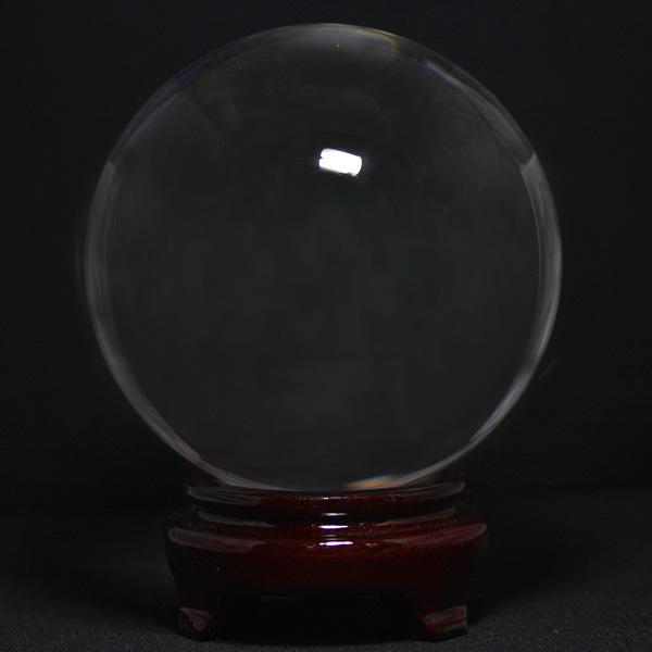 【置き石】丸玉 110mm 人工水晶 (台付き) 送料無料 プチギフト 転勤 退職 お礼 母の日 敬老の日 クリスマス ギフト