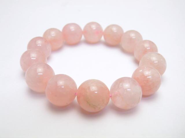 【ENDLESS_14mmブレスレット】 ピンクモルガナイト ブレスレット 恋愛運 天然石 パワーストーン