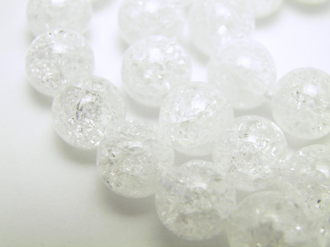 爆裂水晶(クラッククリスタル) 8mm玉 一連 天然石 パワーストーン 爆裂水晶(クラッククリスタル) 8mm玉 一連 天然石 パワーストーン