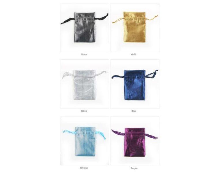 選べる6種類ポーチ アクセサリーや小物入れに プチ包装グッズ テカテカサテンのカラフル巾着袋 新作からSALEアイテム等お得な商品満載 大 12x10cm 人気の定番 1枚売り