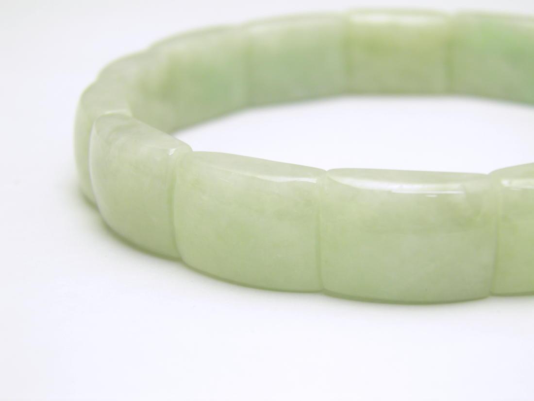 ミャンマー産 グリーンジェイド 翡翠 11mm バングルブレスレット 1本売り 天然石 パワーストーン