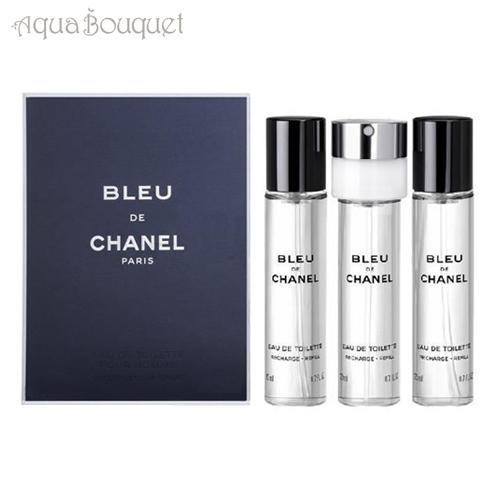 シャネル ブルー ドゥ シャネル オードゥ トワレット トラベル スプレイ 3x20ml(リフィル3本セット)CHANEL BLEU DE CHANEL EDT 3 TRAVEL SPRAY REFILLS [8107]