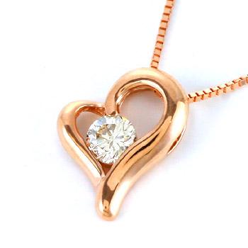 ハート ネックレス ダイヤモンド 一粒 在庫あり時即納 ネックレスハートがそっと抱きしめる 今だけスーパーセール限定 憧れのダイヤモンド DL メール便送料無料 リルハートペンダント TOA ライトシャンパンダイヤモンド 最安値に挑戦 0.1ct
