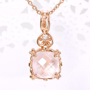 목걸이 여자의 사랑을 사랑을 보호 ・ ・ 부드럽게 핑크 로맨틱의 「 로즈 석 영 × 산화 지르코늄/사랑은 영원한 펜 던 트/목걸이 」 necklace ToS