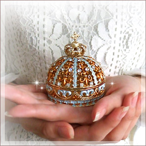 Decorated jewellery box / room double with Oriental opulence and-★ ' maharajacrown-jewelry box.