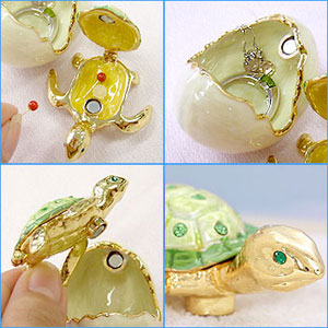 "New born jewelry box ★ cute baby turtles into the jewelry! ""jewelry box sponsor"" appeared! ToS"