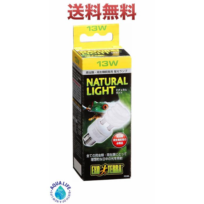 エキゾテラ ナチュラルライト 13W GEX 出荷 爬虫類 紫外線灯 送料無料 UV灯 ライト 大幅値下げランキング