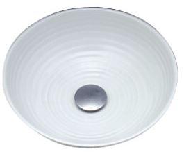 ###KVK KV49A [送料無料]美術工芸手洗鉢 天草陶石 白磁/六兵