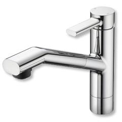多様な KVK 水栓 流し台用シングルレバー式シャワー付混合栓 KM908 送料無料, 酒専門店 ミツイ 615aa908