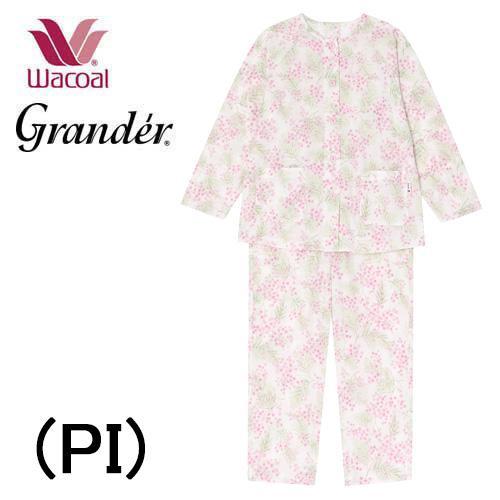 【ワコール】Granderミセス 婦人パジャマパジャマ 前開きグランダー151cm長袖レディースパジャマ家庭用乾燥機対応綿混送料無料お誕生日母の日 プレゼント 実用的2020 新作春夏物