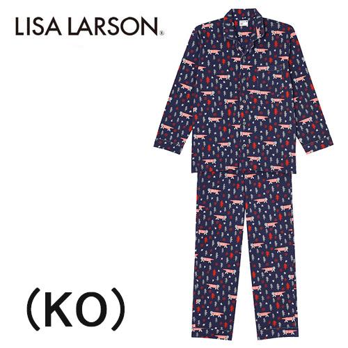 【ワコール】LISA LARSONリサラーソン長袖メンズパジャマ綿100%送料無料ギフトラッピング無料お見舞いお誕生日プレゼントに最適レディース 秋冬物ルームウエアナイトウエア