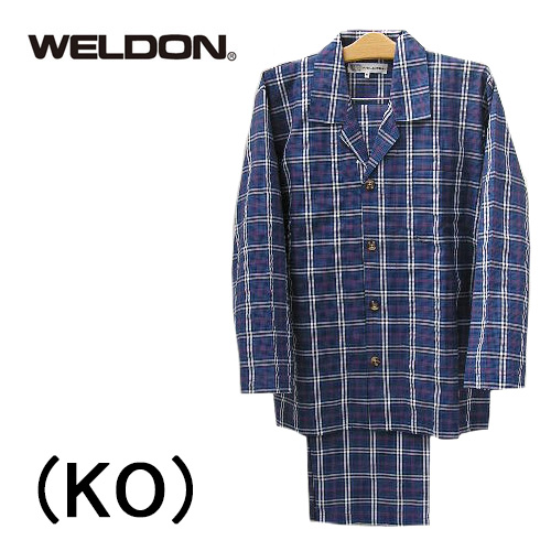 【WELDON】ウエルドン日本製パジャマ 前開き長袖メンズパジャマ綿100%送料無料ギフトラッピング無料父の日お誕生日プレゼントに最適ルームウエアナイトウエア