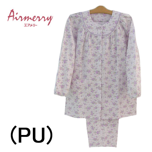 【ANGLE アングル】エアメリー 日本製パジャマ 前開き長袖 レディースパジャマ送料無料ルームウエアナイトウエア母の日ギフト内祝いお見舞い