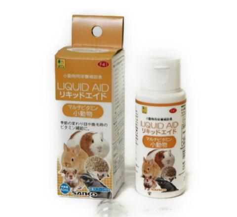 マルチビタミン 健康維持 季節の変わり目や換毛時のビタミン補給に 60ml サンコー リキッドエイドマルチビタミン小動物 品質保証 秀逸