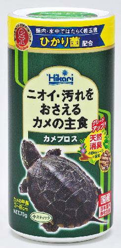 水棲ガメのエサ 公式ストア 国産品 亀のエサ ミドリガメ ゼニガメ OK善玉菌 茶葉を配合 キョーリン スーパーSALEポイント5倍 カメプロス70g
