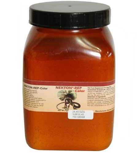 爬虫類 トカゲ カルシウム ビタミン エサ /サプリメント/添加剤/ NEKTON-REP-COLOR 750g(ネクトンレップカラー)(取り寄せ)