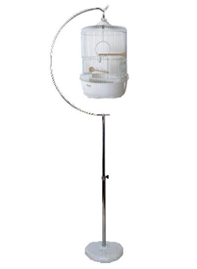 高品質 正規激安 小鳥かご 丸かご 鳥籠OK HOEI R440 半月スタンドLセット M ※別途送料加算 白塗装 +