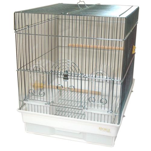 デポー 鳥ケージ ホーエー 巣引き セキセイインコやフインチ類にゆとりサイズ 手数料無料 HOEI 底カラー:ホワイト 鳥かご 35角Gメッキ