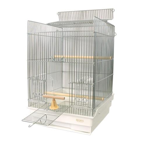 鳥かご HOEI 35手のり ステンレス 底カラー:ホワイト(組立サイズ:370x415x545mm)【送料無料】