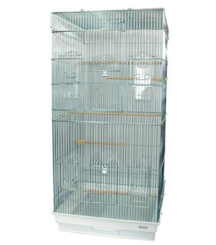 鳥かご HOEI 465ロング 底カラー:ホワイト(組立サイズ:465x465x940mm) ※別途送料加算 / ケージ 大型