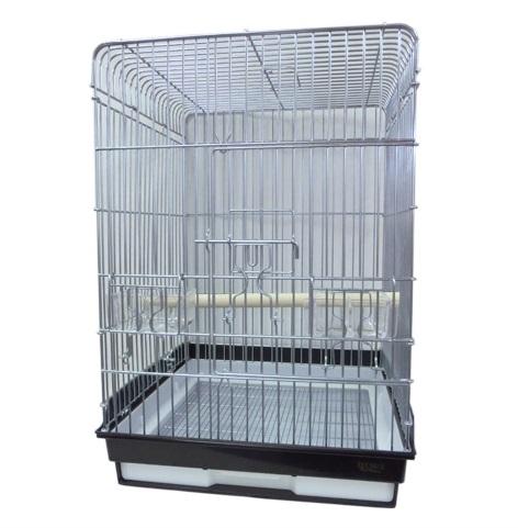鳥かご HOEI 465オウム 底カラー:ブラック(組立サイズ:465x465x660mm) ※大型商品の為、別途送料加算